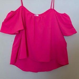 Alta Hot Pink Off Shoulder Top
